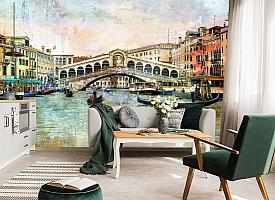 3D Фотообои  «Венеция маслом»  вид 6