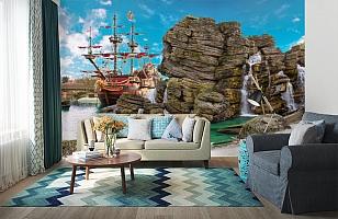 3D Фотообои  «Пиратский остров»  вид 6