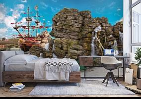 3D Фотообои  «Пиратский остров»  вид 5