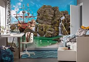 3D Фотообои  «Пиратский остров»  вид 4
