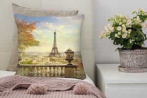 3D Подушка «Фреска Париж»  вид 3