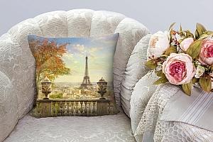 3D Подушка «Фреска Париж»  вид 4