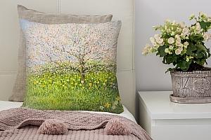3D Подушка «Цветущие деревья»