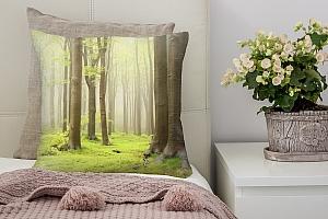 3D Подушка «Зеленый лес»