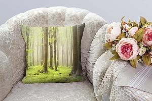 3D Подушка «Зеленый лес»  вид 3
