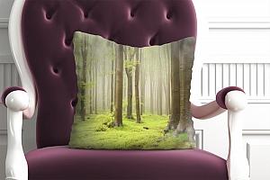 3D Подушка «Зеленый лес»  вид 5