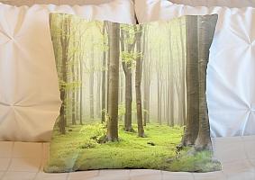 3D Подушка «Зеленый лес»  вид 6