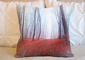 3D Подушка «Осенний лес в тумане»  вид 6