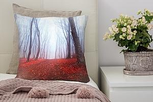 3D Подушка «Осенний лес в тумане»  вид 7