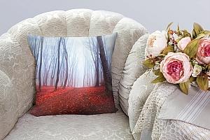 3D Подушка «Осенний лес в тумане»  вид 8