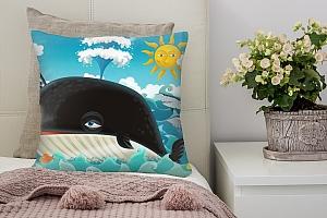 3D Подушка «Пираты и кит»  вид 2