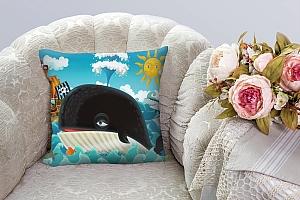 3D Подушка «Пираты и кит»  вид 3