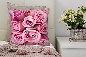 3D Подушка «Розовые розы»