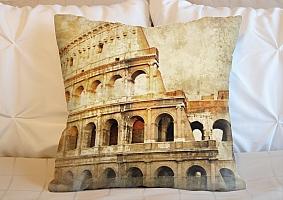 3D Подушка «Фреска Колизей»