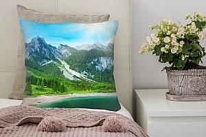 3D Подушка «Горное озеро»
