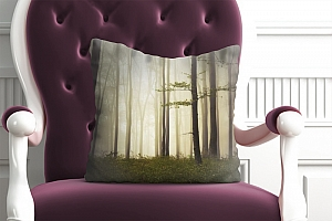 3D Подушка «Лес в тумане»  вид 5