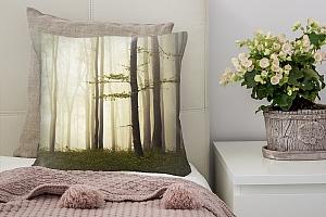 3D Подушка «Лес в тумане»  вид 7