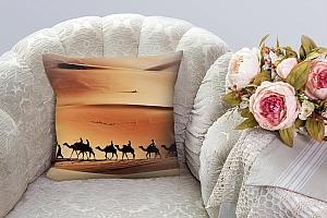 3D Подушка «Пустыня караван» вид 3