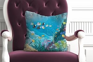 3D Подушка «Подводные жители»  вид 4