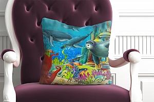 3D Подушка «Морские обитатели»  вид 5