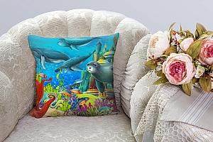 3D Подушка «Морские обитатели»  вид 8