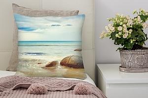 3D Подушка «Камни в море»
