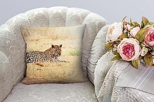 3D Подушка «Леопард» вид 3