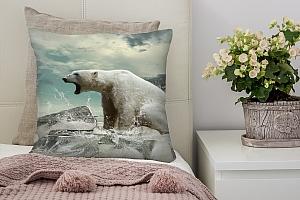 3D Подушка «Белый медведь»