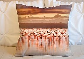 3D Подушка «Фламинго на закате» вид 6