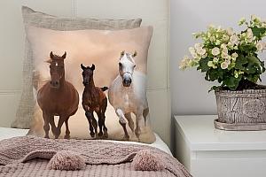 3D Подушка «Лошади»