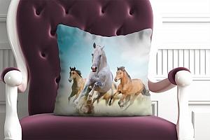 3D Подушка «Лошади в дикой природе» вид 4