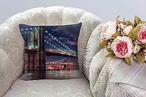 3D Подушка «Бруклинский мост» вид 3