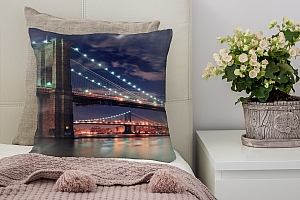 3D Подушка «Бруклинский мост» вид 4