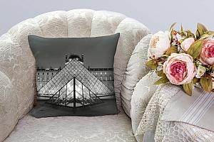 3D Подушка «Лувр» вид 3