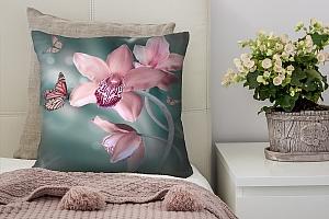 3D Подушка «Изящная орхидея»