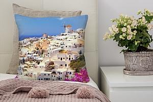 3D Подушка «Санторини панорама»