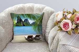 3D Подушка «Солнечный пляж Таиланд»  вид 3
