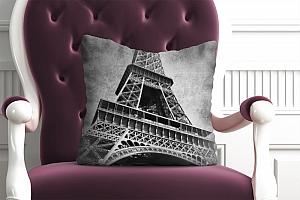 3D Подушка «Париж черно-белые»  вид 4