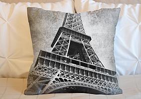 3D Подушка «Париж черно-белые»  вид 5