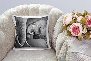 3D Подушка «Слоны»  вид 5