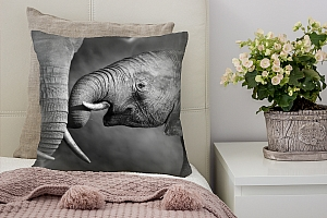 3D Подушка «Слоны»  вид 2