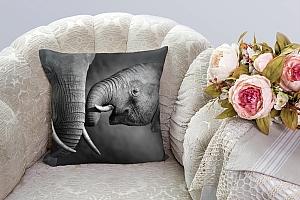 3D Подушка «Слоны»  вид 3