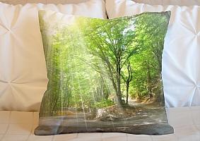 3D Подушка «Дорога в солнечном лесу» вид 6