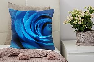 3D Подушка «Синяя роза»