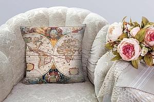 3D Подушка «Карта мира панно»  вид 3