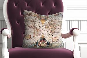 3D Подушка «Карта мира панно»  вид 4
