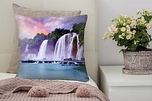 3D Подушка «Лазурный водопад»