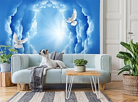 3D Фотообои «Птицы в небе» вид 2