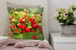 3D Подушка «Земляника»