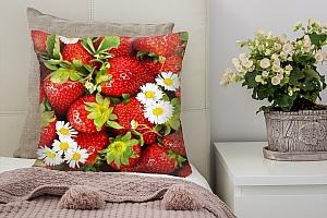 3D Подушка «Цветущая клубника»
